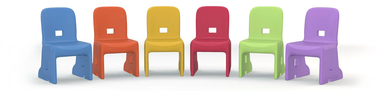 StepUp chair whimsical color theme